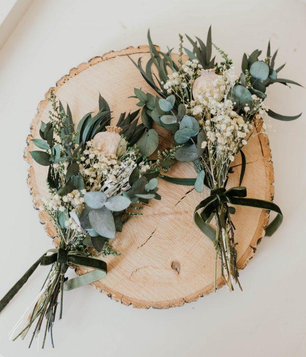 mini ramitos flores preservadas