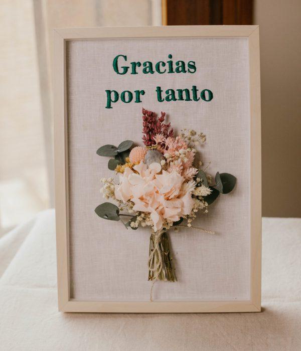 cuadro personalizado de flores