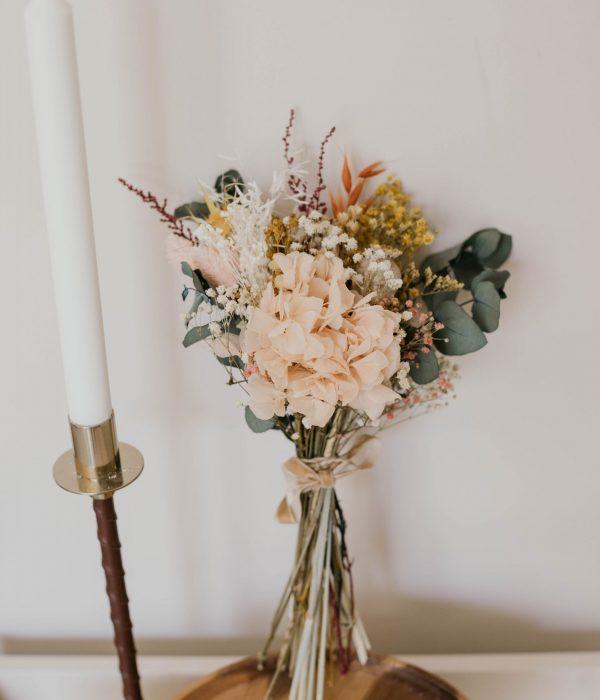 ramito de flores preservadas