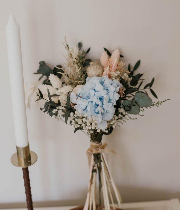 ramos de novia azul