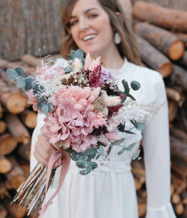 ramo de novia preservado
