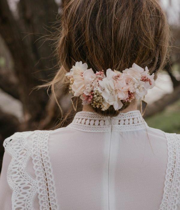 tocado de flores