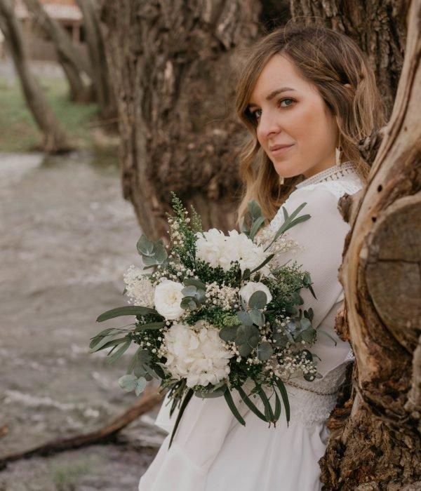 ramos de novia romantico